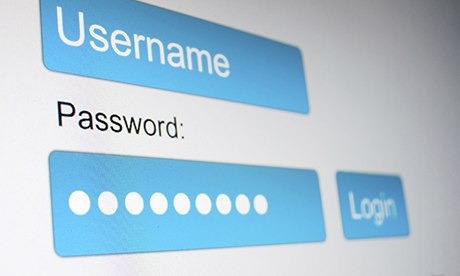 Password box on a webpage