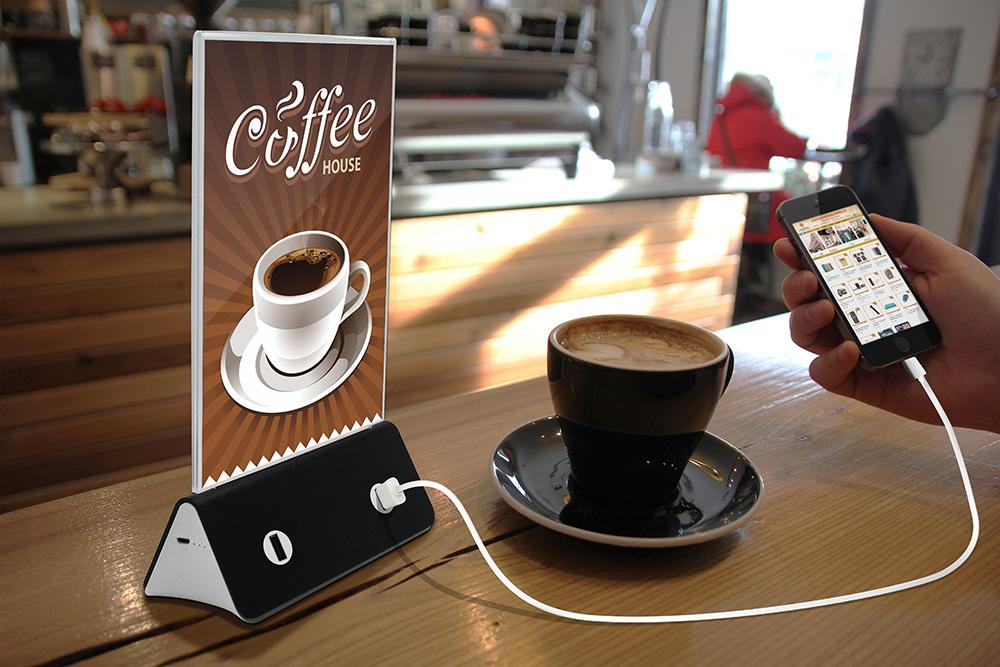 Зарядка под кофе